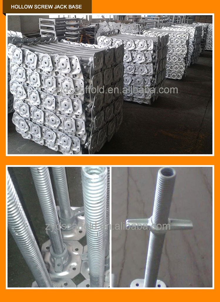 Adjustable Galvanized Scaffolding Jack Base