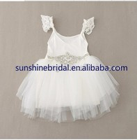 2015 New Style Lace Sleeves Tulle Tutu Baby Girl Summer Dress
