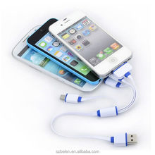 Phone Charger 4 In 1 Multi-Function Usb Charger Cable For Iphone 4 5 6 7 Android Type C