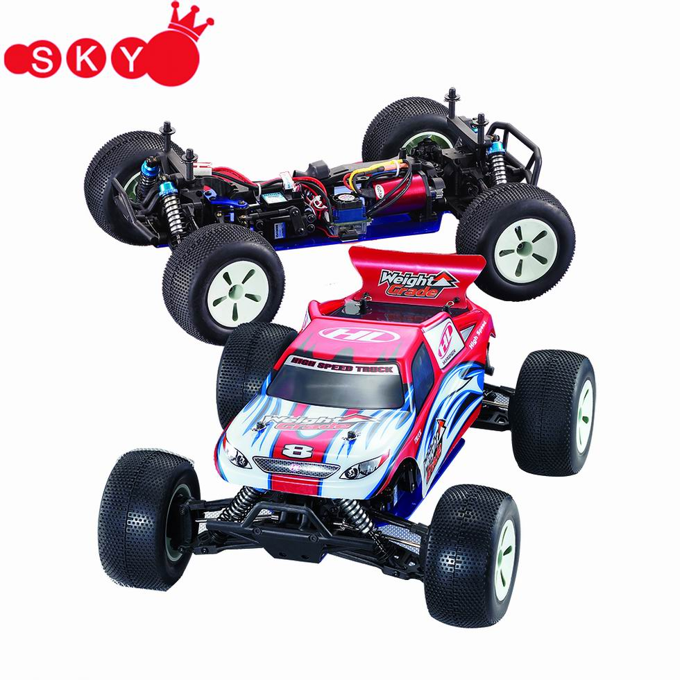 Racing Electric Truck with 27MHz Radio 1/10 High Speed Scale RC Car