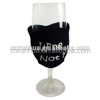 neoprene wine glass cup cooler