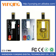 Hot selling factory price usb flash memory 2.0,OEM custom logo usb credit card