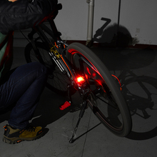 No battery required Red Safety LED Bike Tail Light