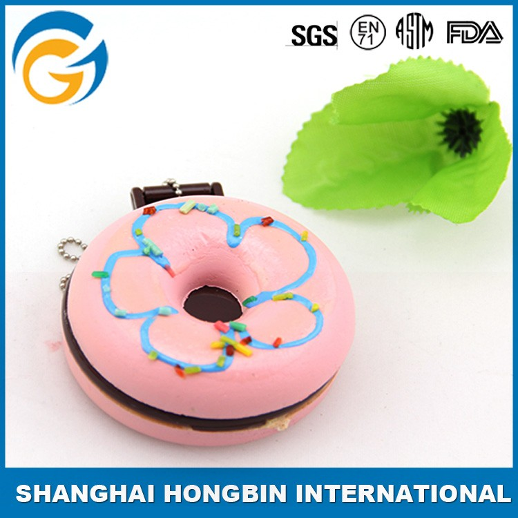 Hot Sale Producer Custom Memory Doughnut Foam Stress Ball with Mirror