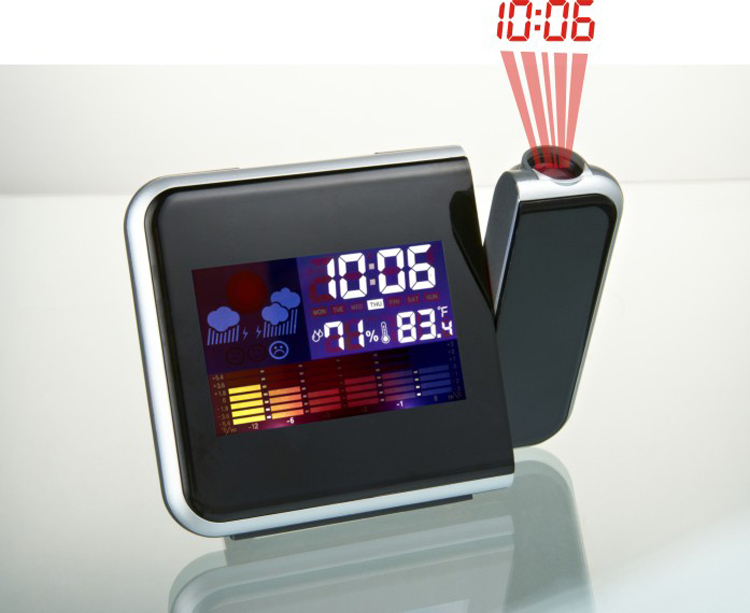 Sunny Hot Sale Colorful Digital projection alarm clock