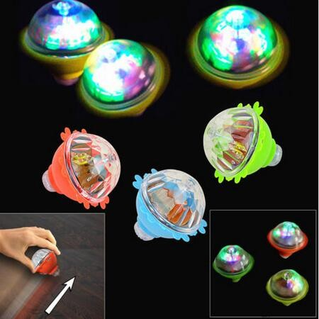 Dazzling Toys LED Light Up Friction Gyro Peg Top Rotating Flashing Kids Toys