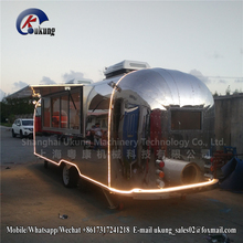 UKUNG Street Mobile Fast Food Airstream Trailer For Ice Cream Hambeger Snacks