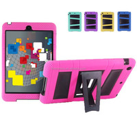 pc silicone case for iPad mini,V stand cover for iPad mini