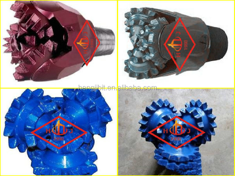 solid material IADC217 steel tooth tricone bits for well drilling