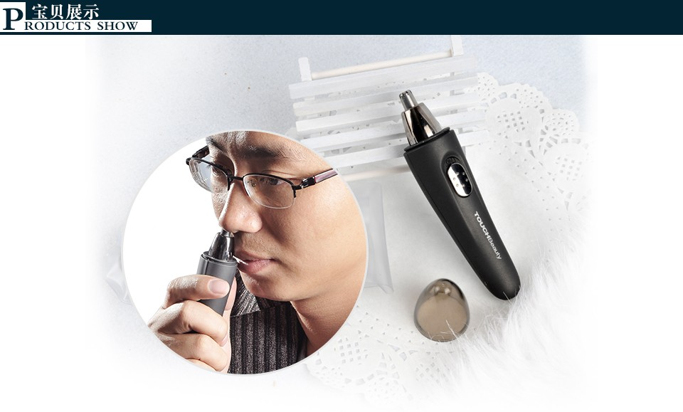 Hot Electric Nose Ear Hair Trimmer With LED Light