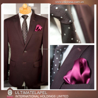 Burgundy color wedding dress designs for men