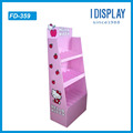 cute pink nail polish cardboard display stand/cosmetics display racks