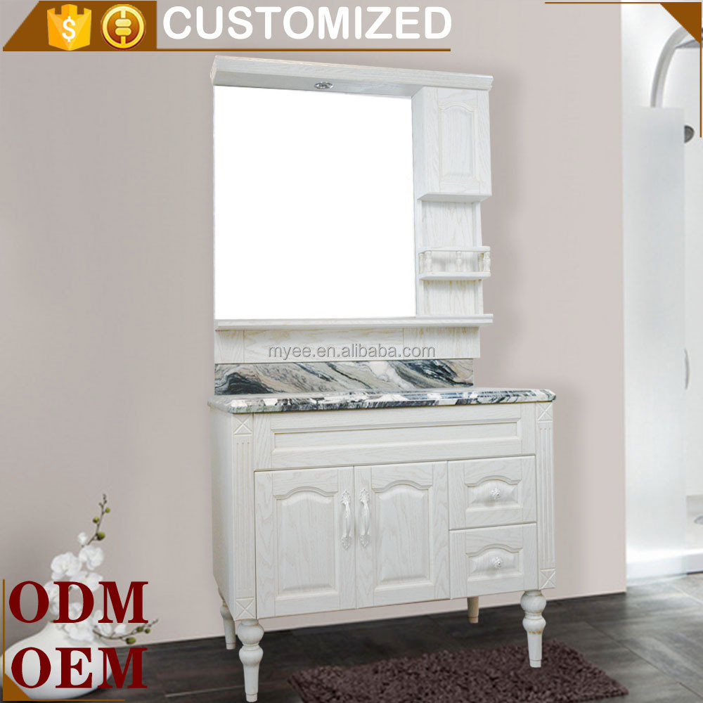 White waterproof bathroom storage cabinet bathroom mirror for Bathroom 94 percent