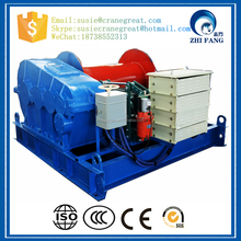 10 Ton Single Drum High Speed electric winch , Hydraulic Towing Winches