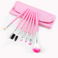 Cheap price 7pcs make you own brand pink makeup brushes for resale