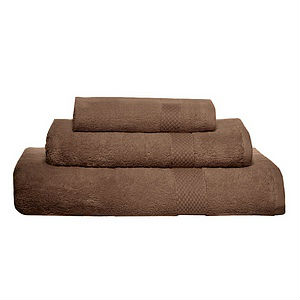 Pure Fiber Organic Combed Cotton Bath Towels - Chocolate