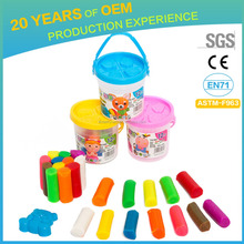 Colorful transparent plastic bucket fimo polymer clay