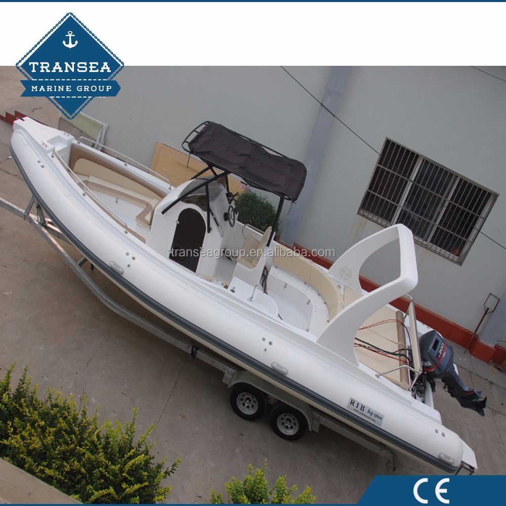 CE Certificate China hypalon inflatable fishing yachts manufacturer