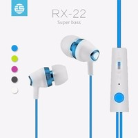 Good sound music bass stereo 3.5 mm plug plastic earphones made in china