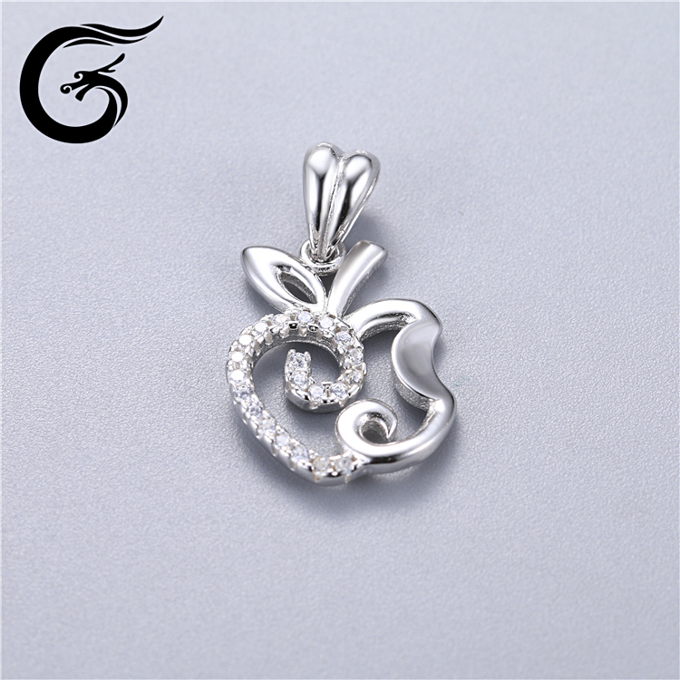 925 sterling silver jewelry wholesale jewelry pendant blanks with cz