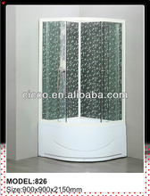 Factory Product !! Economical Aluninum Frame Color Glass Shower Cabin