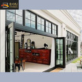Double glazing lowes aluminum accordion bifold door