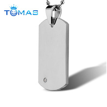 Wholesale circle blank dog tags stainless steel