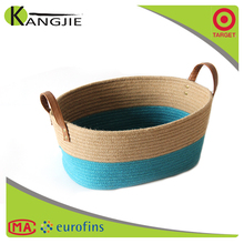 Durable using low price handmade cotton linen storage baskets