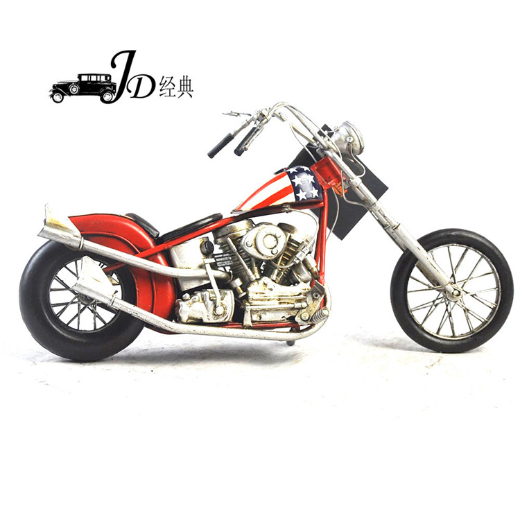 New Arrival Vintage Hndmade Motorcycle Model JLM2598-RWB