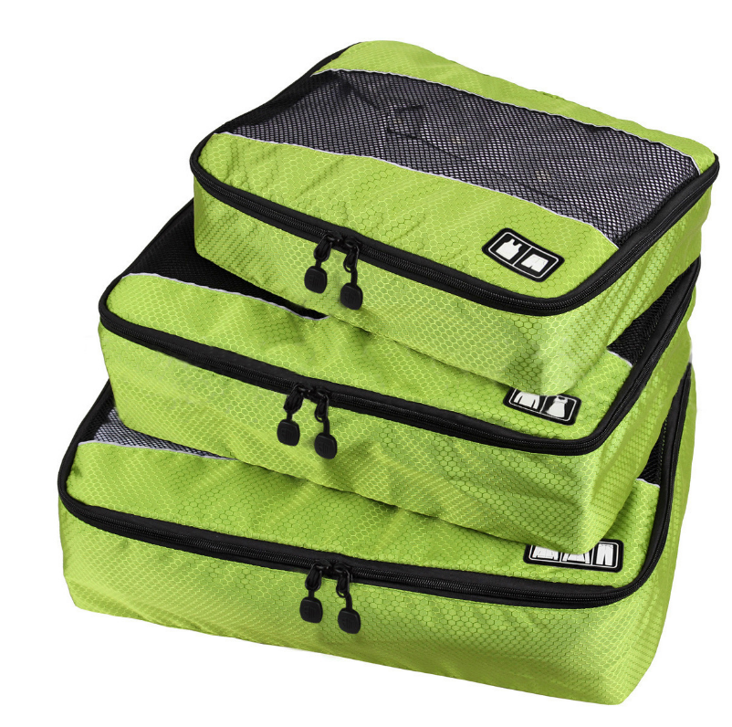 Yiwu manufacture Travel 3 Set Packing Cubes, Carry-on Luggage Packing Organizers with Shoe Bag