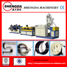 PVC/PE/PP plastic single wall corrugated pipe extrusion machinery/extruder in china
