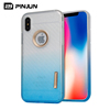 Carbon fiber pattern blank tpu cell phone case cover for iphone x,transparent blue for iphone x case tpu