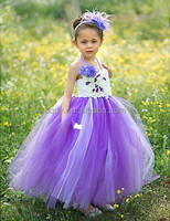 2015 purple and white wedding dresses baby girl summer dresss trap evening dress vintage one-piece dress