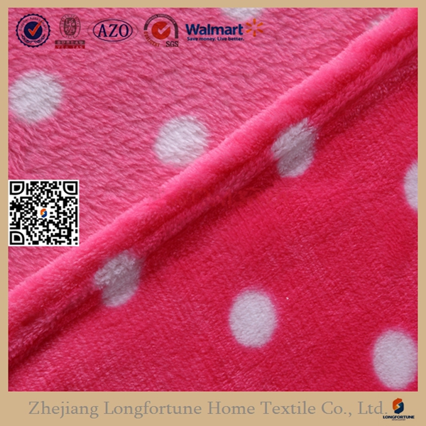 Mink Raschel Weft Flannel Fleece Blanket