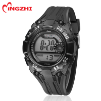 digital plastic watches water proof watch