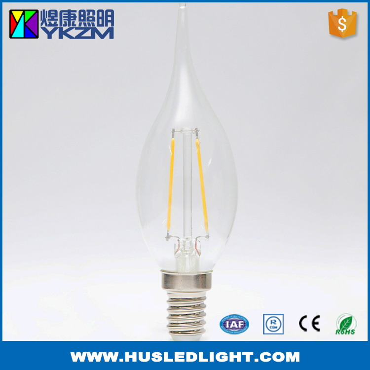 China supplier best quality candle shaped led filament light bulb