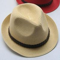2014 Fashion design bulk straw cowboy hats wholesale