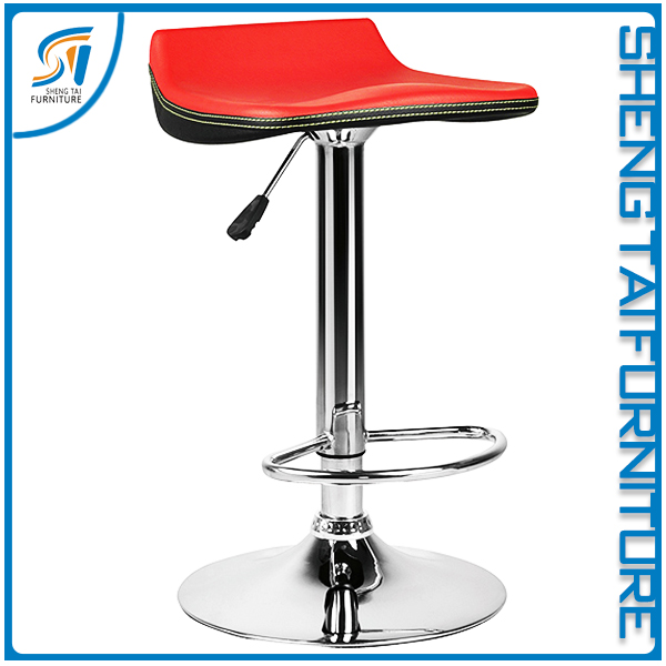 China industrial PVC comfortable bar stool with footrest covers