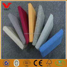 Covered fiberglass fabric acoustic panel for wall decoration