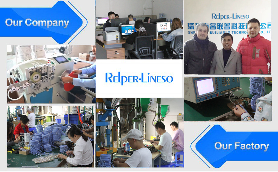 Relper-Lineso network cable lock network cable commuciation equipment network cable color code cat6