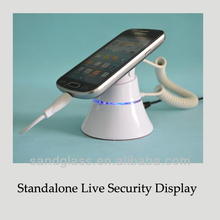 Live mobile phone alarm holder, charging and alarm