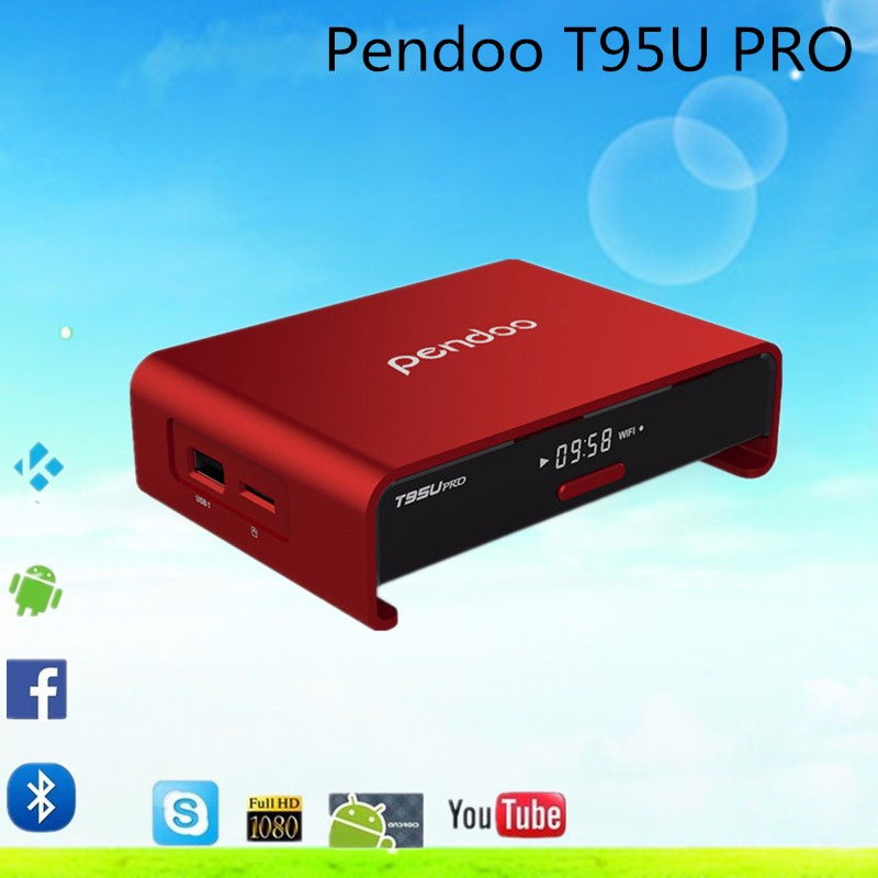 Better price S912 Android 6.0 TV Box Pendoo T95U Pro 2G 16G kodi 17.0 Dual Wifi 4K Set Top Box Octa Core