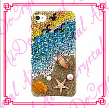 Aidocrystal Fashionable shining Sea shells phone case for iphone 4/4s,blinged out phone cases for iphone 4