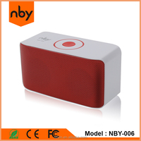 NBY ce rohs 5W powerful sound computer wireless bluetooth small speaker with rugged lanyard