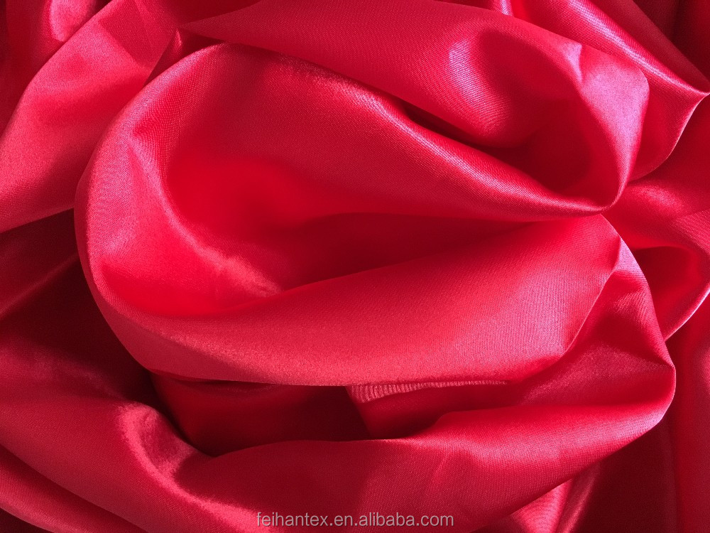 50D*75D 100% Polyester Matt Twist Satin Fabric For garment
