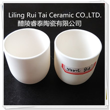 99.8% High Purity Alumina Ceramic Products Boat crucible /Arc