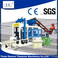 fully automatic building material concrete , qty8-15 hydraulic block making machine, cement brick prod