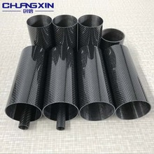Large diameter carbon fiber tube roll wrapped