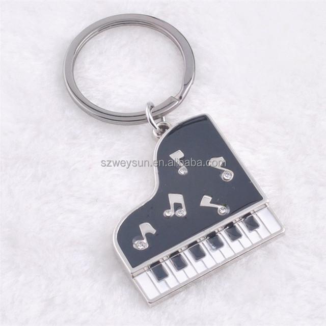 Wedding gift metal key rings gift piano shape metal Alloy keychain