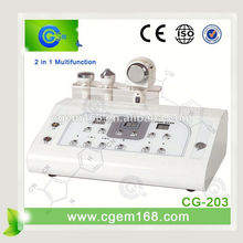 CG-203 2 in 1 ultrasonic electric facial massager for facial treatment